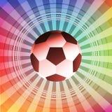 Färgrik illustration för fotboll- och fotbolldesignvektor royaltyfri foto