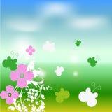 Färgrik illustration för sommarfärg Vektor Illustrationer