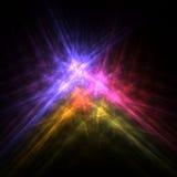 Färgrik illustration för stjärnaflammafyrverkerier Arkivfoto