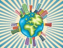 Färgrik illustration för världsdagvektor Royaltyfri Foto