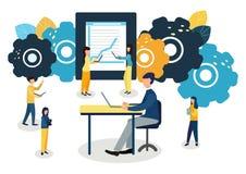 Färgrik illustration för vektor av kommunikationen över internet, sociala nätverk, pratstund, video, nyheterna, meddelanden, webs stock illustrationer