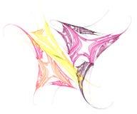färgrik illustrationsfjäril Arkivbild