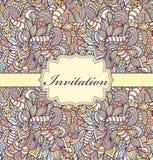 färgrik inbjudan för kort Royaltyfri Foto