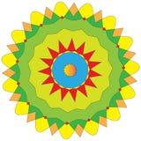 färgrik indier- och vektorfärgläggningmandala royaltyfri illustrationer