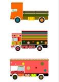 Färgrik indisk lastbil. stock illustrationer
