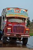 färgrik indisk lastbil Royaltyfri Foto