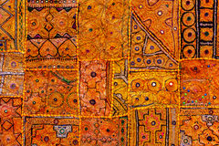 Färgrik indisk tygtextil. Indien Arkivbilder