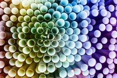 färgrik industriell rørpvc för abstrakt bakgrund Royaltyfria Foton