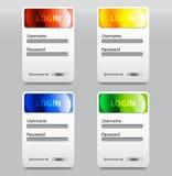 Färgrik inloggningssida Arkivfoton