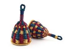 färgrik instrumentmusikal för afro brasiliansk caxixi Arkivbilder