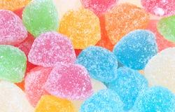 färgrik isolerad gelésötma för godis Arkivfoton