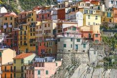 Färgrik italiensk arkitektur royaltyfri fotografi