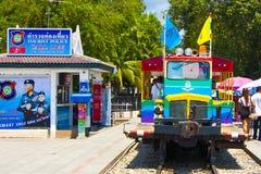 Färgrik järnväg Royaltyfria Bilder