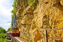 Färgrik järnväg Arkivfoton
