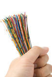 färgrik kabel arkivbilder