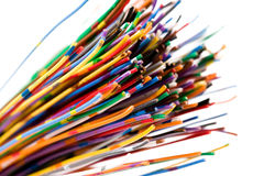färgrik kabel royaltyfri foto