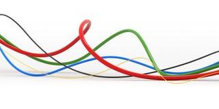 färgrik kabel stock illustrationer