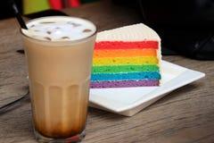 Färgrik kaka i singapore Asien arkivfoto