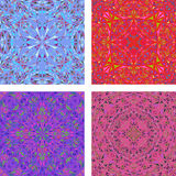 Färgrik kalejdoskopisk triangelbakgrundsuppsättning Fotografering för Bildbyråer