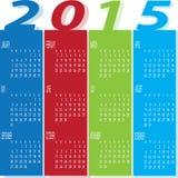 Färgrik kalender för år 2015 Royaltyfria Foton