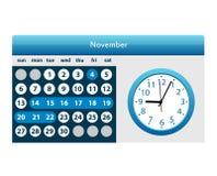 Färgrik kalender för år som 2018 isoleras på en vit bakgrund vektor illustrationer