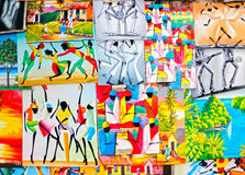 Färgrik karibisk jamaikansk konst   Royaltyfri Foto