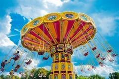 färgrik karusell Arkivfoton