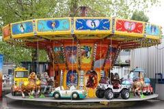 färgrik karusell Arkivbild