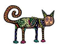 Färgrik katt vektor illustrationer