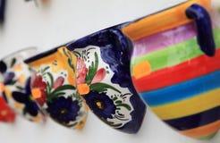 Färgrik keramik arkivbild