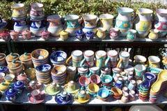 färgrik keramik royaltyfri fotografi