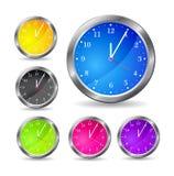 färgrik klocka Arkivfoton