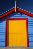 färgrik koja för strand Arkivbilder