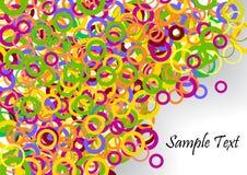 färgrik konfettimall för baner stock illustrationer