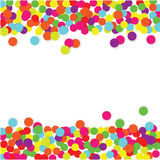 Färgrik konfettivektorram royaltyfri illustrationer