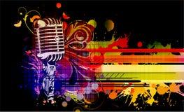 färgrik konsertaffisch Royaltyfria Bilder