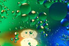 Färgrik konstgjord bakgrund med bubblor Royaltyfria Bilder
