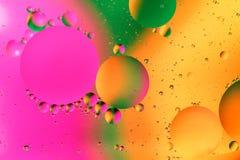 Färgrik konstgjord bakgrund med bubblor Royaltyfri Fotografi