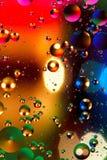 Färgrik konstgjord bakgrund med bubblor Royaltyfria Foton