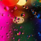 Färgrik konstgjord bakgrund med bubblor Arkivfoto