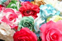 Färgrik konstgjord blomma Royaltyfria Bilder