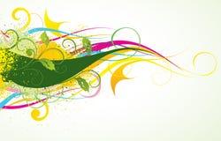 färgrik konstnärlig bakgrund Arkivbilder