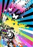 färgrik konstnärlig bakgrund Royaltyfri Fotografi