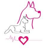 Färgrik kontur av hundkapplöpning Stock Illustrationer