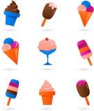 färgrik kräm- isset Arkivbilder