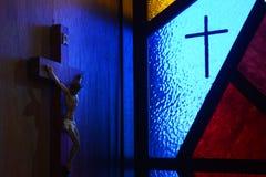 Färgrik kristenkyrka Arkivfoton