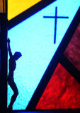 Färgrik kristenkyrka i Taiwan Arkivfoton