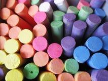 färgrik krita Arkivbilder