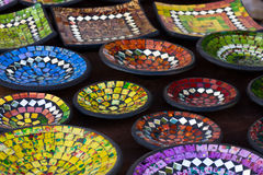 färgrik krukmakeri royaltyfri fotografi