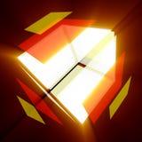 färgrik kub arkivfoto